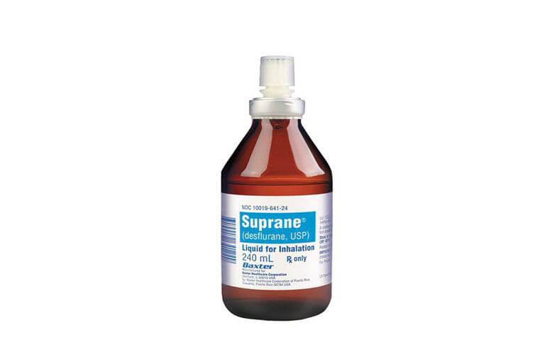 Thuốc mê Desflurane có dạng và hàm lượng là SUPRANE (desflurane, USP), chai 240 ml desflurane